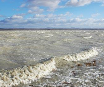 Aguas turbias trasel temporal