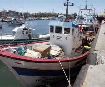 Barcos de pesca palangreros