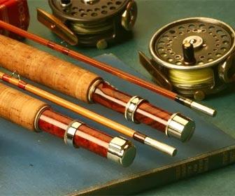 Cañas de pesca a mosca de bambú