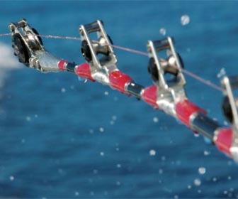 Cañas de pesca al currican con anillas de rodillo