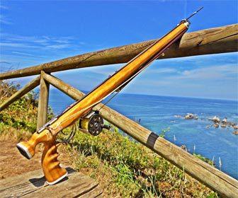 Fusil de madera pesca submarina