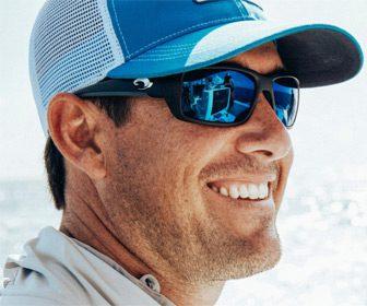 Gorra y gafas de sol para la pesca
