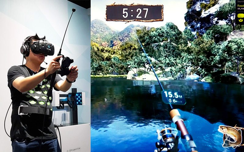Juego simulador de pesca en realidad virtual