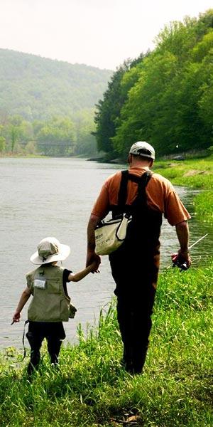 La pesca a mosca en familiar