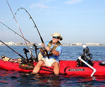 pesca desde kayak
