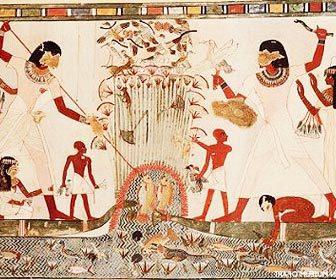 Origen de la pesca en Egipto