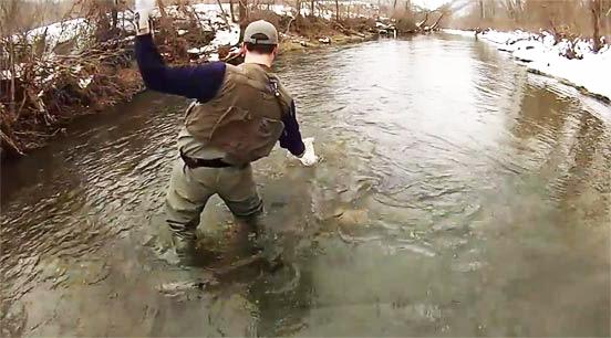 Peces de agua fría, su actividad en invierno para la pesca