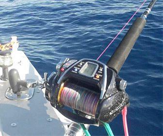 Pesca al curricán carrete electrico