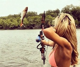 Pesca con arco bowfishing