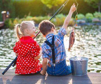 Pesca con hijos