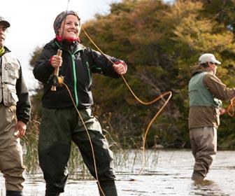 Pesca deportiva en grupo