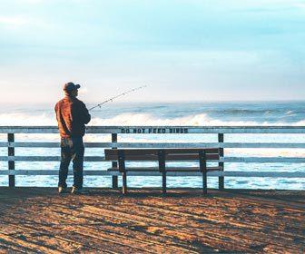 Pesca desde costa espigón