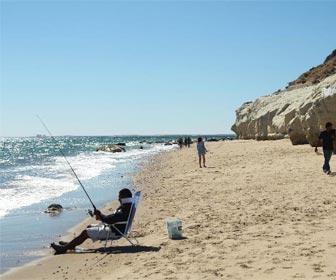 Pesca desde orilla
