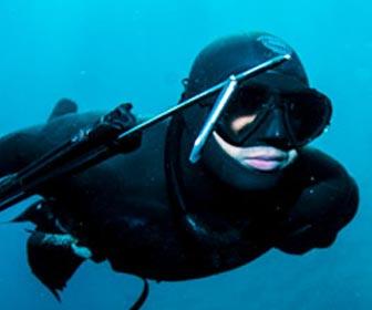 Pesca submarina a la caída