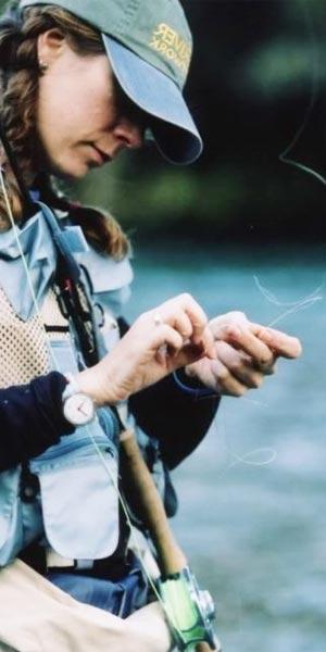 Pescadora con mosca