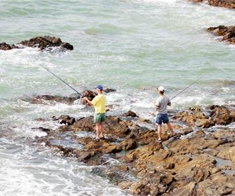 Pescar pargos desde roca