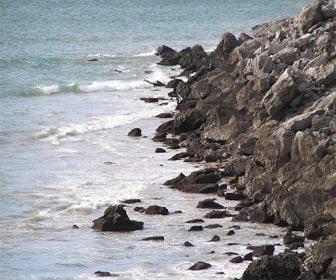 Pesqueros de roca con fondo de arena