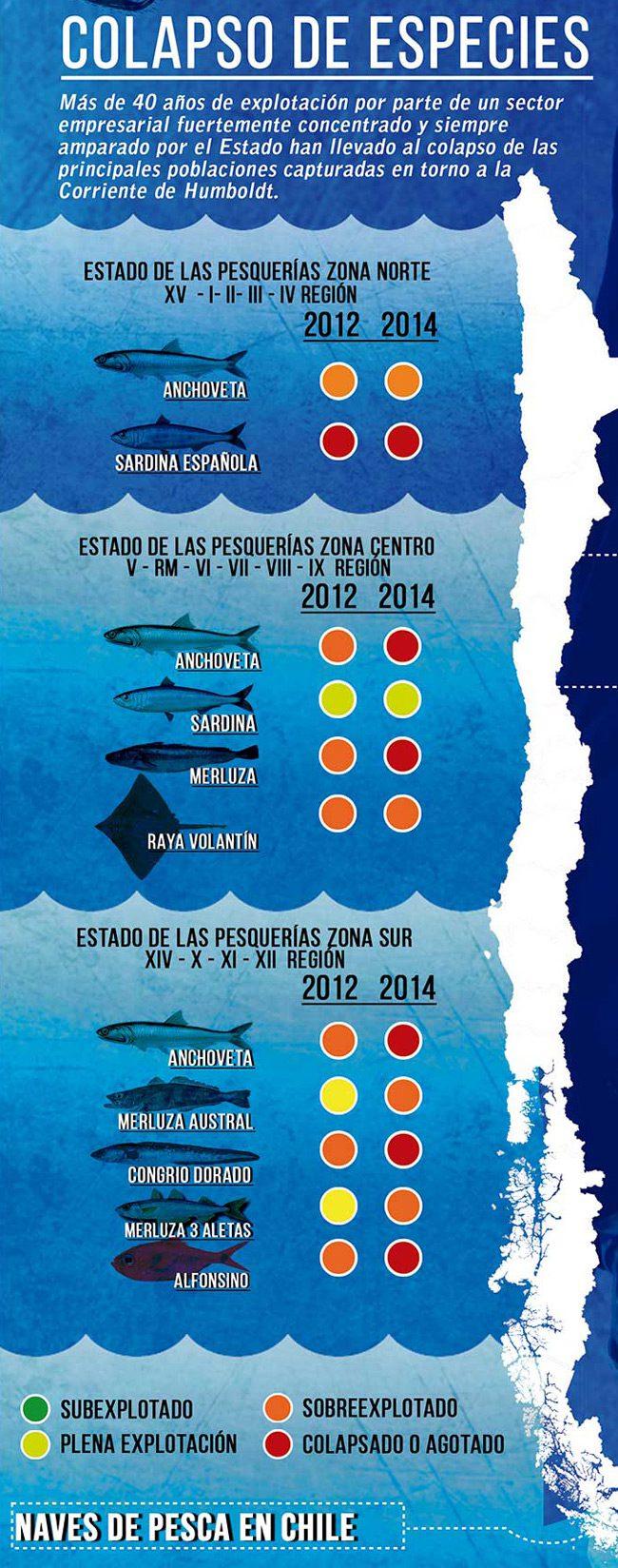Problema de la pesca industrial en Chile