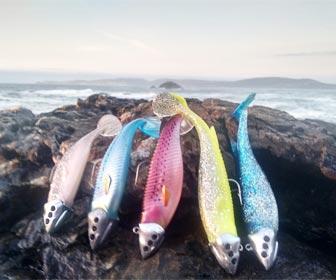 Señuelos vinilos pesca a spinning