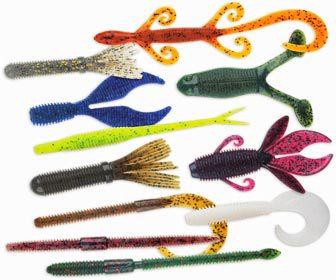 Tipos de colores lombrices de vinilo