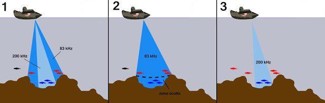 Tipos de frecuencias sondas de pesca