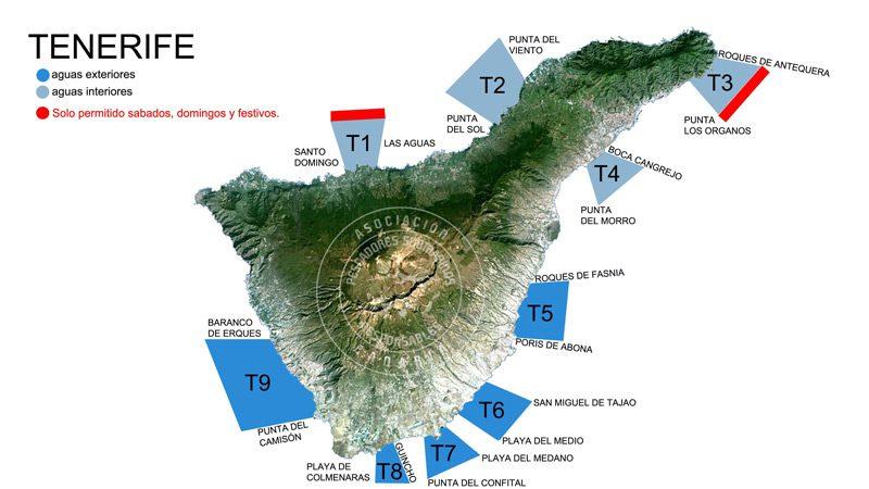 Zonas de pesca submarina en Tenerife