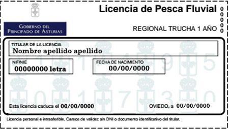 licencia para pescar en Asturias