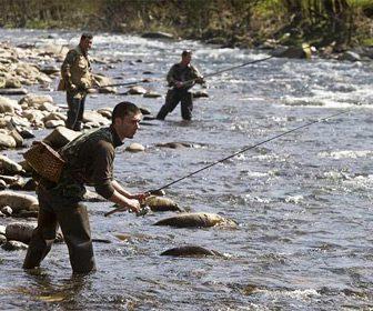 pescar en rios con caña